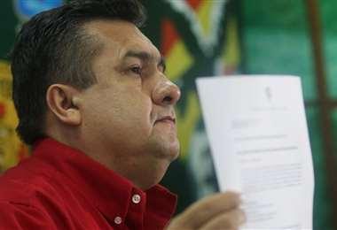 Robert Blanco asegura que es el presidente en ejercicio de la FBF. Foto: Jorge Ibáñez