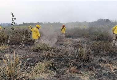 Las labores son constantes en la zona fronteriza con Brasil. Foto: Alcaldía de Puerto Quijarro