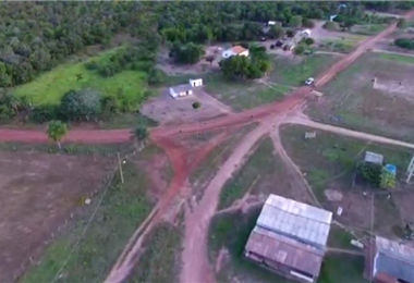 Imagen aérea de San José de la Frontera. Foto. Juan Pablo Cahuana