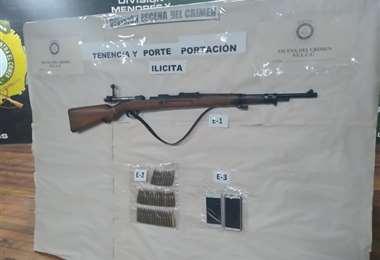 Armas decomisadas por la Policía en Senkata