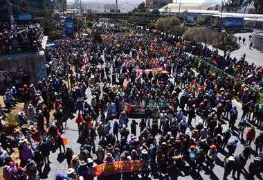 Cabildo en la Ceja de El Alto. Foto: APGNoticias.