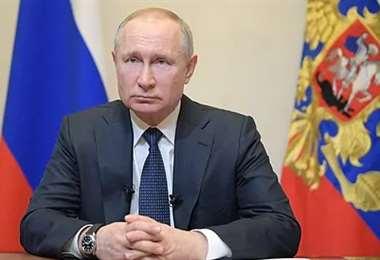 El mandatario ruso. Foto AFP
