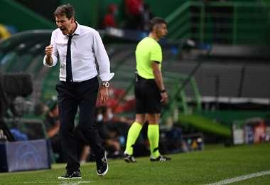 Rudi García, entrenador del Lyon de Fracia, semifinalista de la Champions. Foto: AFP