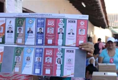 Una papeleta de las elecciones anuladas de 2019