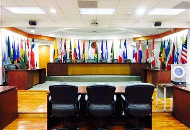 La sede del organismo internacional I internet.