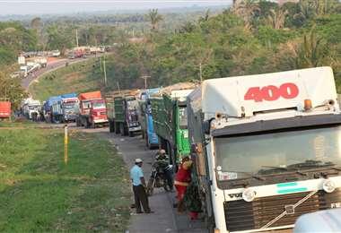 Los productores y el transporte pesado sufrieron los efectos de los bloqueos /Foto: Hernán Virgo