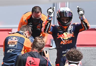 José Martín fue el más velos en la prueba de Moto2