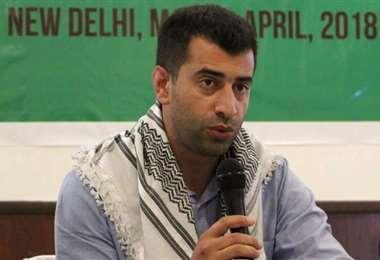 El activista palestino Mahmoud Nawajaa. Foto Internet