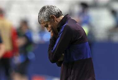 Quique Setién fue despedido del Barcelona. Foto: AFP