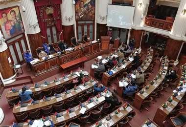 Una sesión en la Cámara de Diputados.