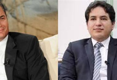Correa y Arauz, el binomio anunciado. Foto Internet
