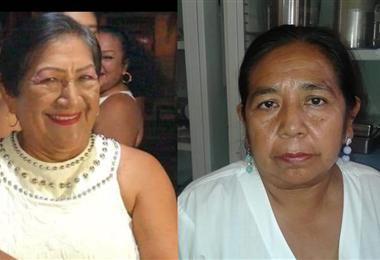 Carmen Soriocó y Juana Emilia Durán Espinoza fallecieron a causa del coronavirus. Foto. Gentileza familiar
