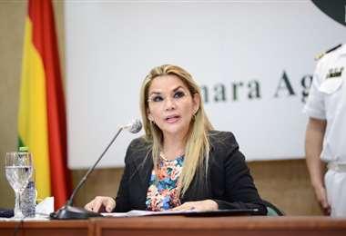 La Presidenta en el acto de los empresarios cañeros en Santa Cruz (foto:oficial)