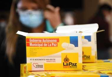 Los kits de medicamentos que se entregarán I AMN.