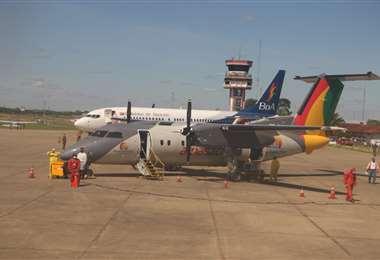 BoA y Amaszonas están realizando vuelos humanitarios a destinos con migración boliviana./Foto: Jorge Ibáñez