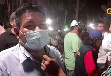Fanor Amapo después de salir de la audiencia (foto:captura de pantalla)