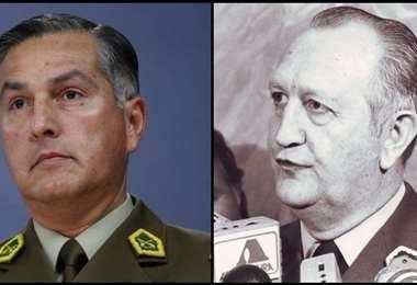El jefe de Carabineros Mario Rozas (izq.) y el general Stange. Foto Internet