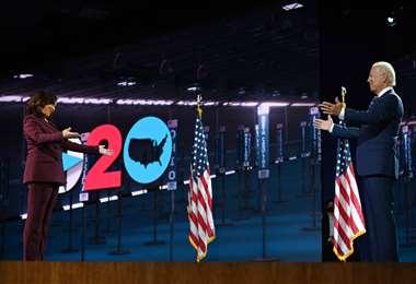 Kamala y Biden, la dupla demócrata. Foto AFP