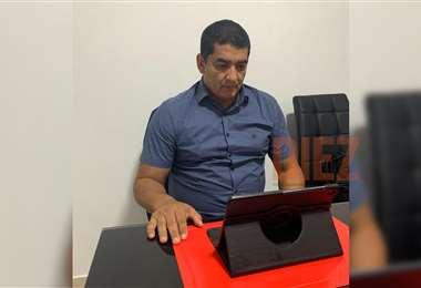 Marcos Rodríguez durante la reunión virtual del comité ejecutivo. Foto: DIEZ