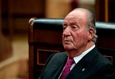 El rey emérito español. Foto AFP