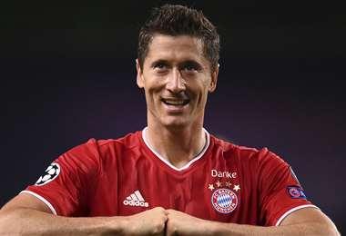 Robert Lewandowski, el goleador del Bayern de Múnich. Foto: AFP