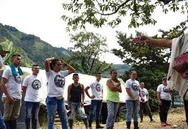 Excombatientes de las FARC. Foto El Tiempo