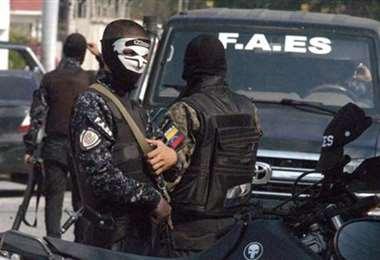 Miembros de las FAES. Foto Internet