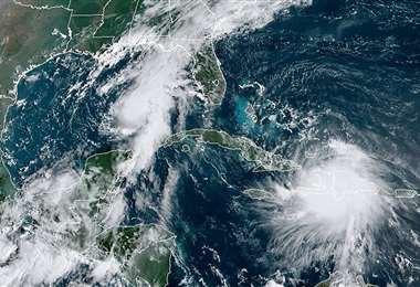 El huracán Marco. Foto AFP