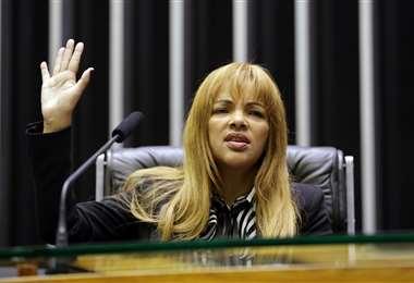 La diputada y líder evangélica Flordelis dos Santos. Foto AFP