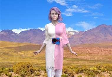La modelo franco-canadiense mostrará parte de las prendas hechas en Bolivia