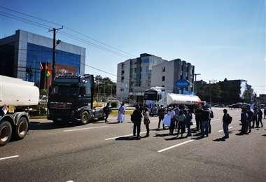 Se levantó el bloqueo de la doble vía a La Guarida (Foto: Juan Carlos Fernández)
