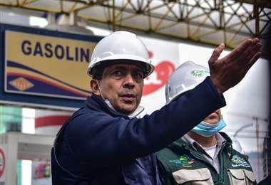 El ministro de Hidrocarburos, Víctor Hugo Zamora.