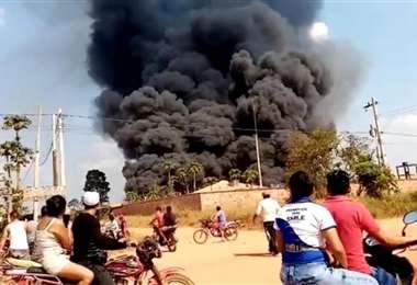 El incendio se percibió desde distintos punto del municipio