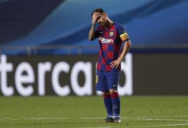 Lionel Messi no se siente bien en el Barcelona. Foto: AFP