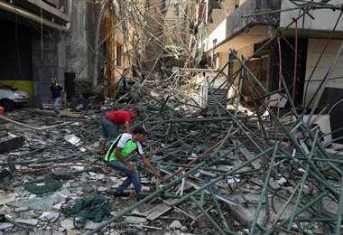 Todavía se realizan labores de limpieza y rescate en la zona afectada