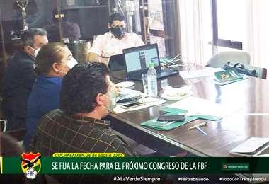 Miembros del comité ejecutivo de la FBF que lidera Marco Rodríguez