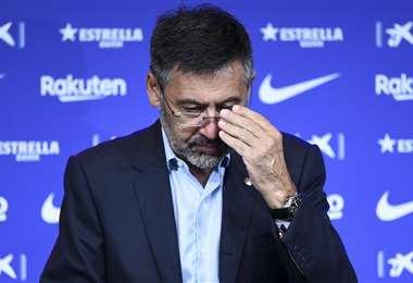Bartomeu afronta la peor crisis del club catalán.Foto: AFP