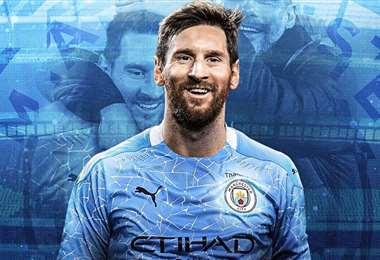 La portada del diario La Nación que habla sobre el fichaje de Messi en el City.