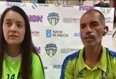 La boliviana Paola Guzmán es presentada en su nuevo club. Foto: Captura video