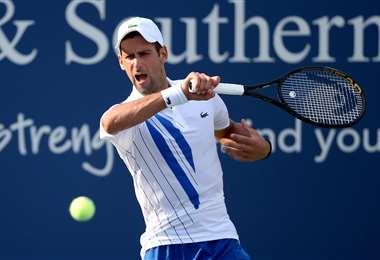 Djokovic se instaló este martes en cuartos de final del torneo de Cincinnati. Foto: AFP