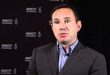 Philip Luther, responsable de Amnistía Internacional. Foto Internet