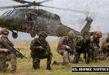 Las brigadas ayudan al ejército colombiano. Foto Internet