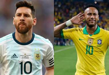 Messi y Neymar son las figuras de Argentina y Brasil, respectivamente. Foto: Internet