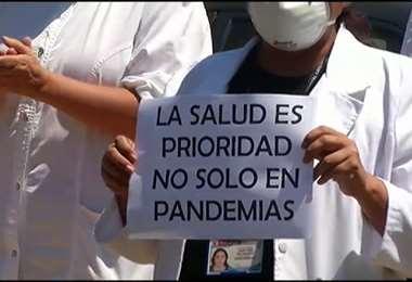 Los médicos piden mejores condiciones. Foto Internet