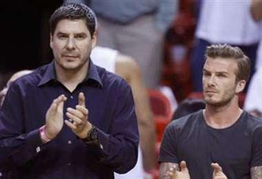 Claure y Beckham, socios y propietarios del Inter de Miami. Foto: internet