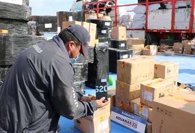 El operativo se dio en territorio chileno. Foto: Iquiquevisión