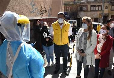 Áñez en el rastrillaje en La Paz I AMN.