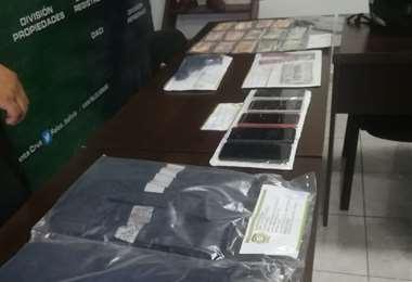 Objetos robados que fueron recuperados