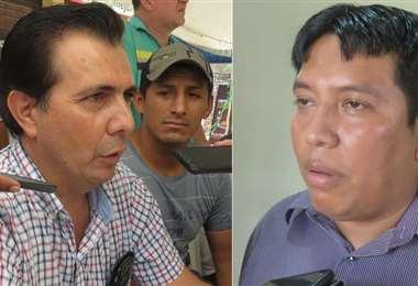 Carlos Gambarte y Carlos Arispe (dcha.), pugnan en Camiri