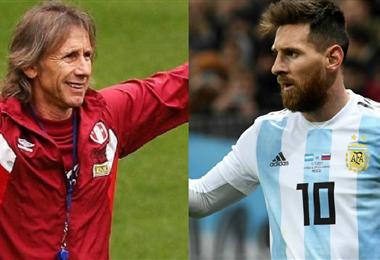 El DT de Perú, Gareca, es un admirador de Messi